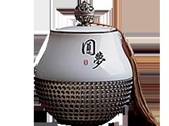 古韵风格琉璃纪念品琉璃茶叶罐摆件高档送礼复古--曲阜市园林古建筑工程有限公司