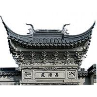 定制苏派砖雕门楼_中式庭院门楼_砖雕门楼