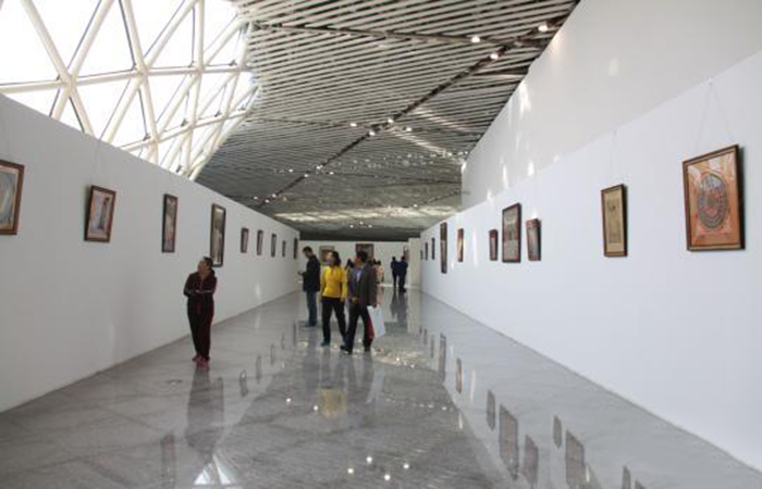 尼泊尔唐卡首次亮相第十届中国(潍坊)文化艺术展示交易会