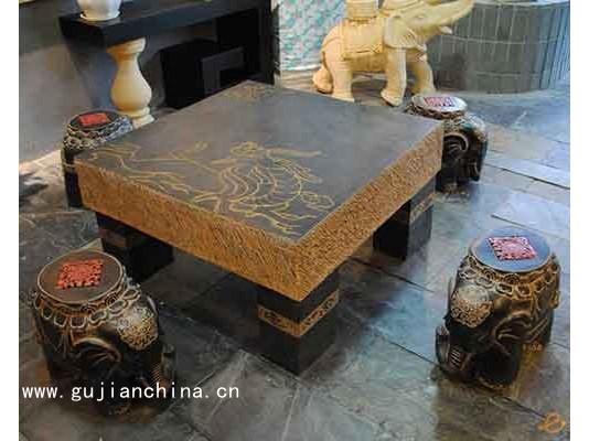 仿古石材建材石桌石凳--河北兴泰园林雕塑有限公司