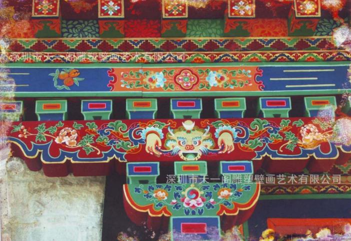 古建筑彩绘壁画_天一阁古建彩绘--深圳市天一阁雕塑壁画艺术有限公司