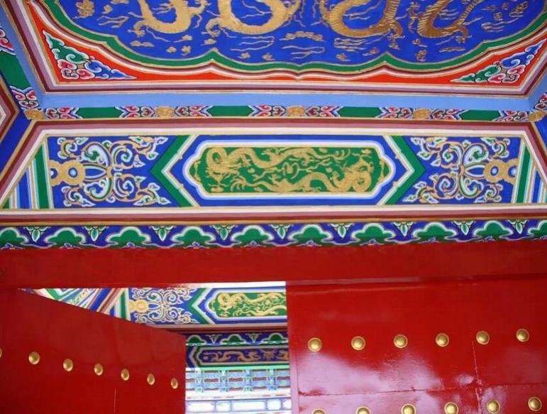 古建筑彩绘 古建筑漆画 走廊手绘 亭子彩绘 景观彩绘 旅游区彩绘--深圳市巧迪智文化创意有限公司