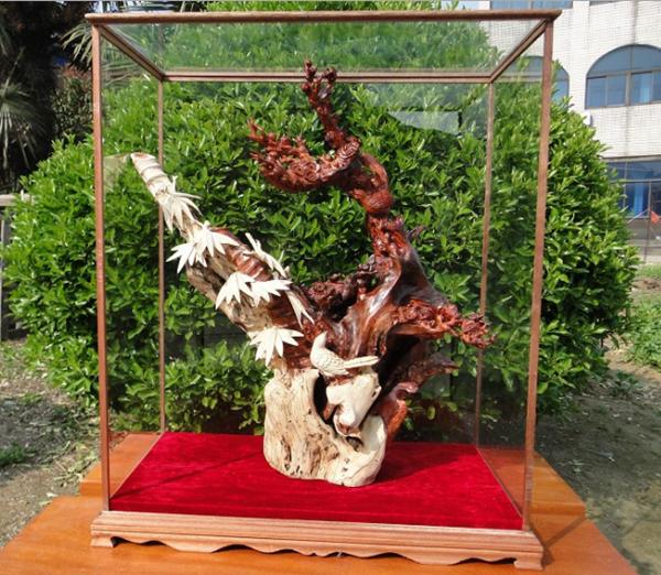 紫檀木喜上眉梢木雕摆件_喜上眉梢木雕作品--常州华夏神韵工艺品有限公司