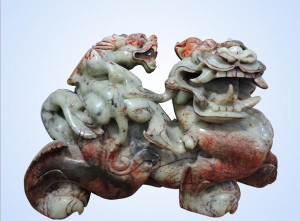 玉摆件_岫玉貔貅摆件价格--邳州市好运来玉雕厂
