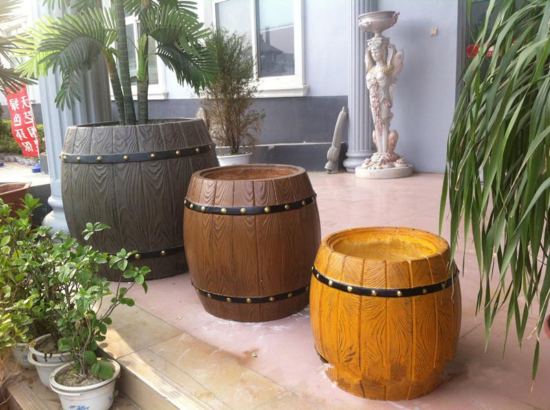 园林园艺仿木花桶塑料模具 (中号)--信阳市天艺模具有限公司