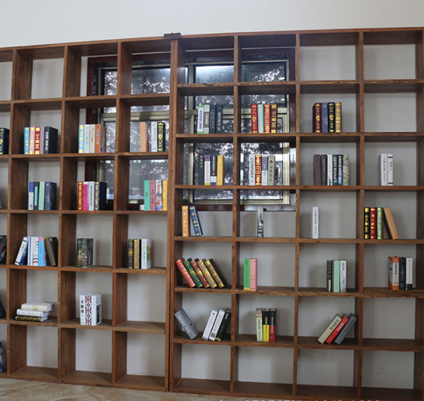 新中式家具书架置物架(按平方计算)--临清市榆美人木业有限公司