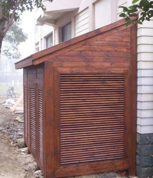 木质网格空调房樟子松防腐木设备房小木屋实木储物室碳化木供电室(元/公斤)--上海广择园林景观工程有限公司