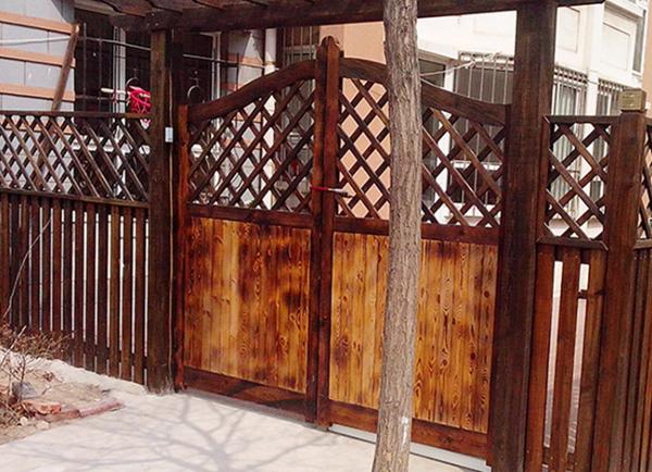 防腐木网格门 户外庭院栅拦碳化木门 葡萄架木门花架--上海杉尚实业有限公司