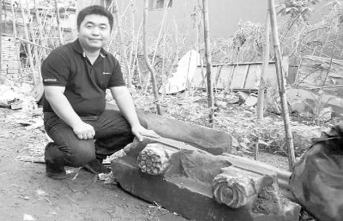 村民捐赠古墓石构件获奖励 疑似出自清代王爷坟