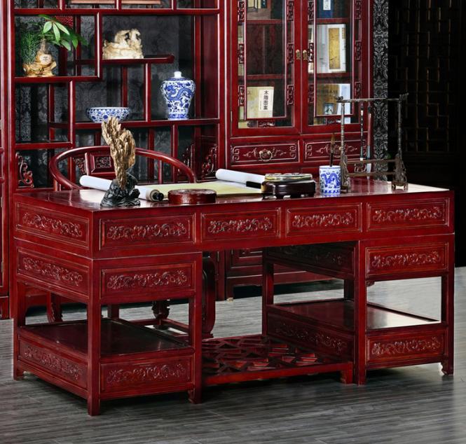 明清仿古桌椅 古典中式书桌 实木明清学习书桌厂家直销--成都尚朝坊木业有限公司