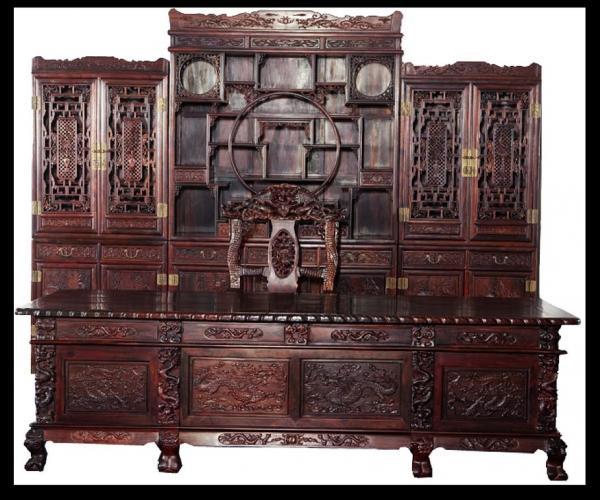 楚盛堂红木红酸枝书柜-- 湖北楚盛堂红木家具有限公司