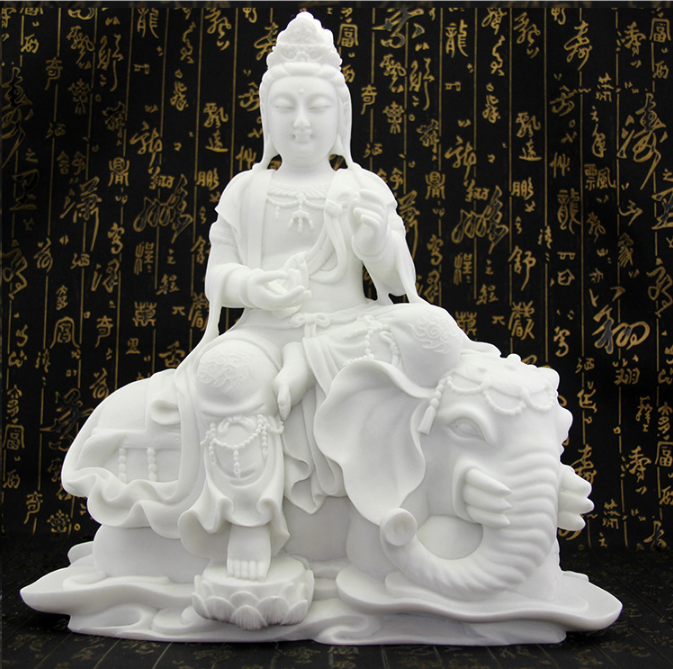 汉白玉精品 观音汉白玉工艺品石雕工艺品观音纯手工雕刻--重庆石盟石文化发展有限公司