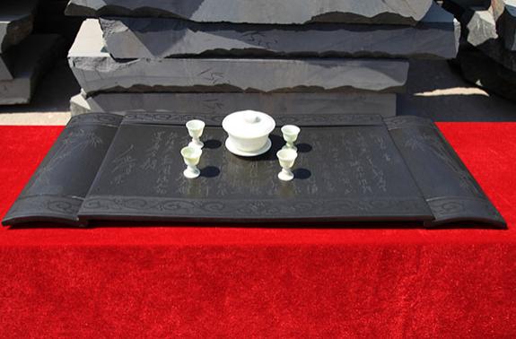 石雕古朴茶台_石雕茶台图片_石雕茶台价格--山西巨鑫石材有限公司