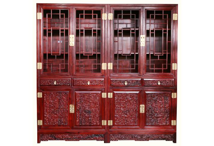 实木书柜多功能摆柜系列--北京皇林苑古典家具有限公司