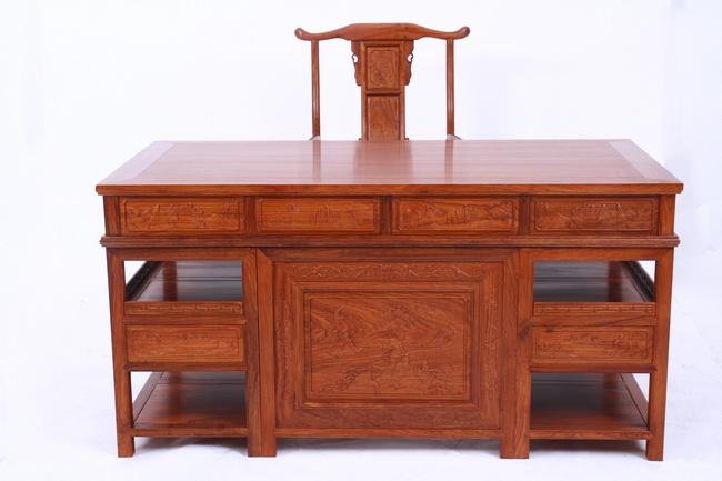 和平红木办公桌椅--江西和平红木家具有限公司