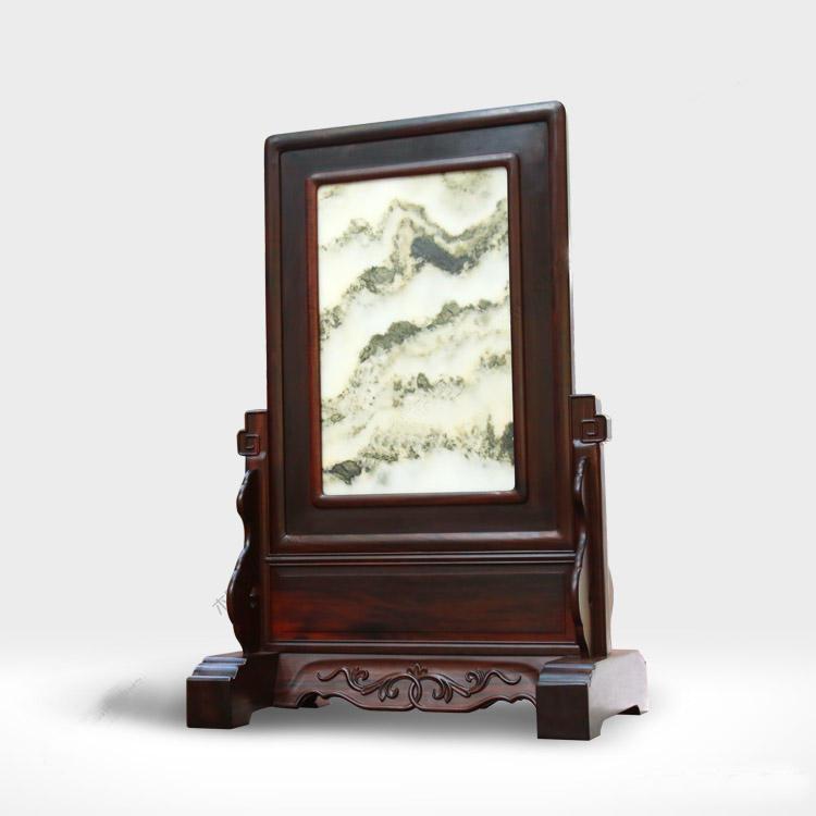 大叶紫檀珍藏云石台屏_云石台屏价格--北京云之图中式家具有限公司