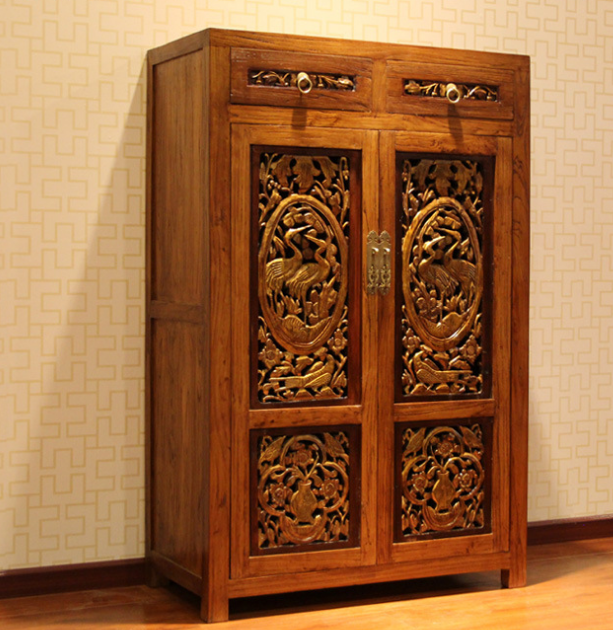 古色老榆木家具老雕花板鞋柜中式实木储物柜品--北京古色家具商贸有限公司