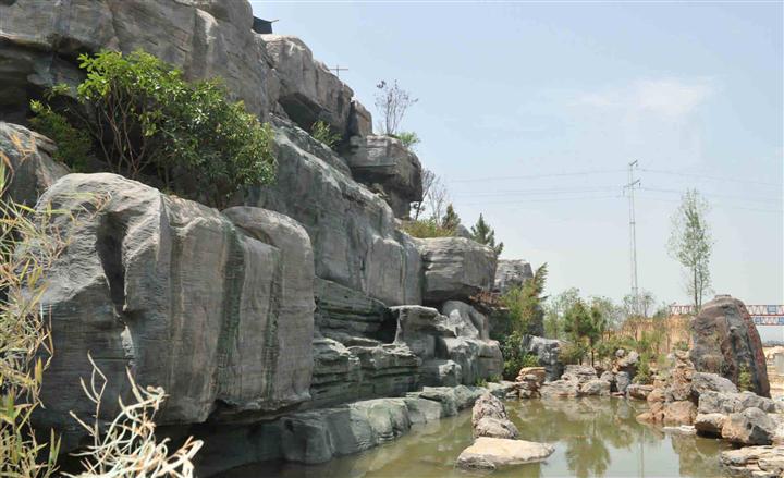 大型假山园林景观施工--江西湖滨园林景观工程有限公司