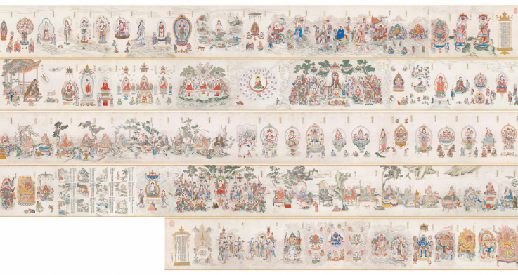 《法界源流图》厂家供货 高仿古画 高仿佛教字画 高端礼品--北京华夏博昌文化艺术发展有限责任公司