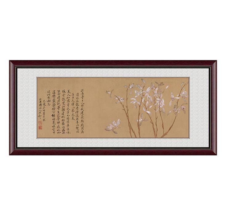 恽寿平九兰图新品现代中式装饰画挂画卧室书房装饰画--北京翔华阁文化发展有限公司