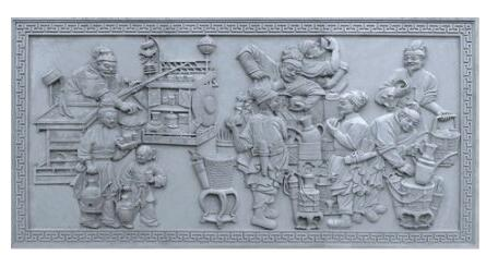 古代故事砖雕_砖雕影壁墙_砖雕影壁价格--曲阜市至圣琉璃瓦厂