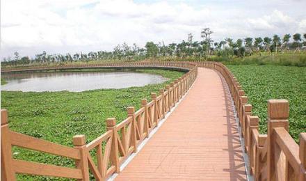 仿木栏杆_水泥仿木栏杆_河道仿木围栏--湖南华秀轩园林景观工程有限公司