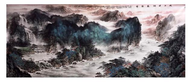 办公室书房客厅装饰品水墨中国风山水画字画文化八尺山水画--北京悦云轩文化发展有限公司