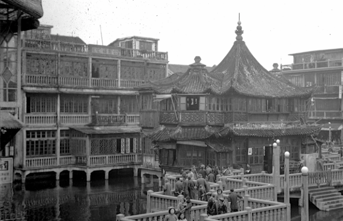 上海老城厢古典园林豫园老照片