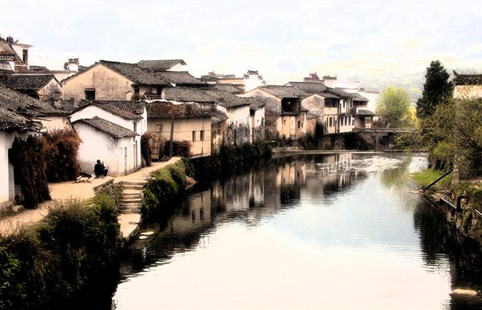 明清徽派建筑保存最好的秀美小村——呈坎
