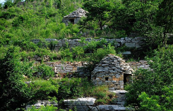 这个村子,整个村被防御墙包围具有自卫防御功能