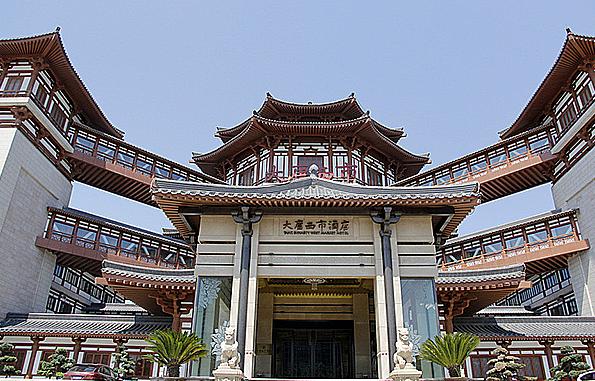 天津仿古商业街古建筑效果图设计