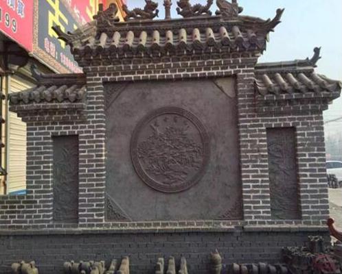 大型砖雕影壁_仿古砖雕影壁图片_砖雕影壁价格--万荣县志龙杰建材有限公司