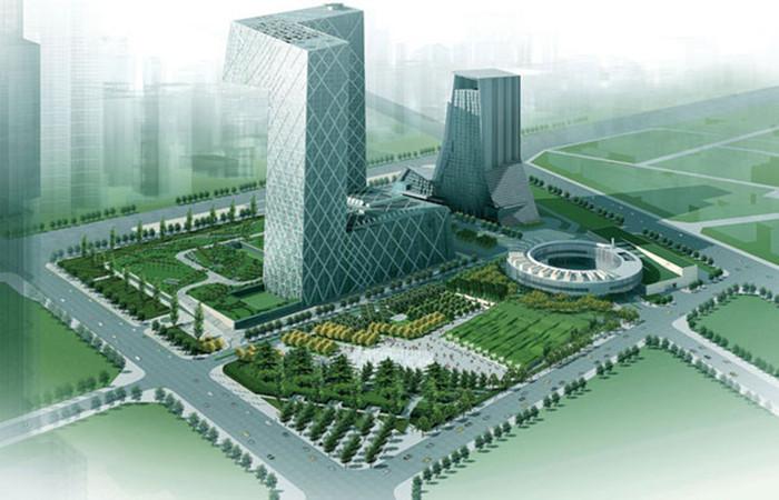 中央电视台新台址媒体公园设计效果图-景观规划设计师李建伟作品