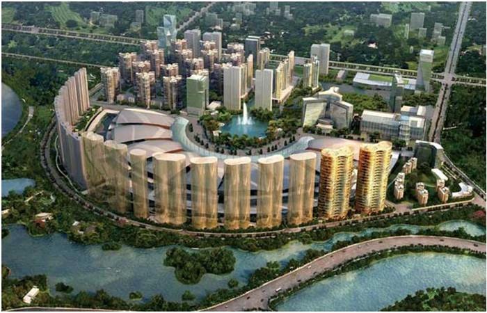 龙湖地产景观设计效果图-景观规划设计师李建伟作品