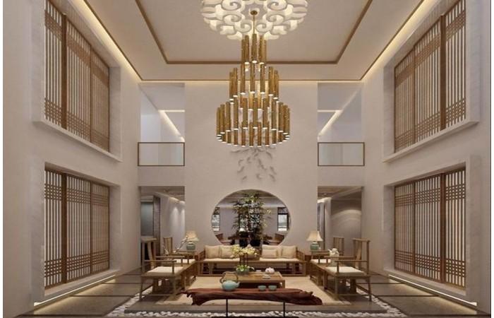 室内设计师王云河-侯氏家园新中式别墅设计效果图