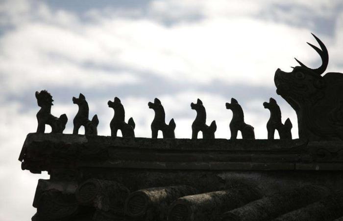 看古建筑屋顶吻兽,感受博大精深的建筑文化!