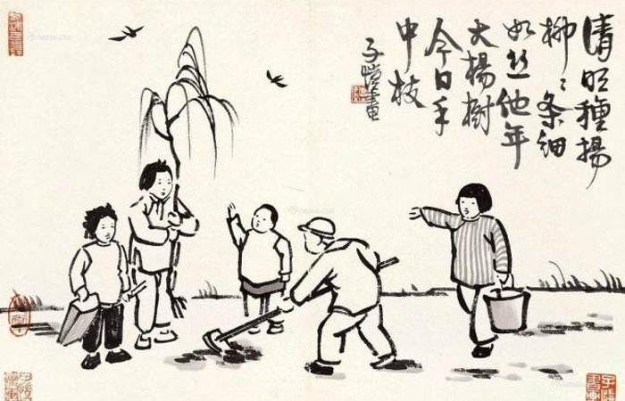 丰子恺经典图文赏析:看淡世事沧桑,内心安然无恙。