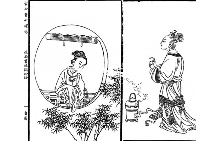 古版画人物类图案元素(二)