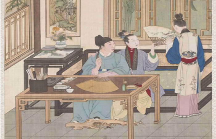 《乾隆燕寝怡情》图中的古代家具