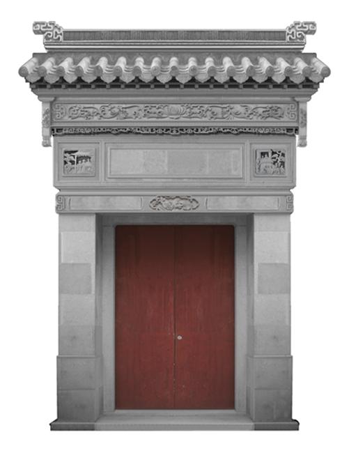 仿古砖雕门楼