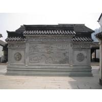 仿古砖雕影壁、砖雕照壁墙、仿古墙饰古建砖雕浮雕可订做