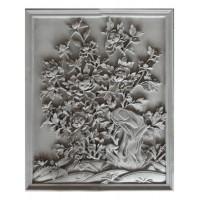花开富贵、节节升高老青砖古建砖雕仿古中式照壁四合院浮雕装饰挂件