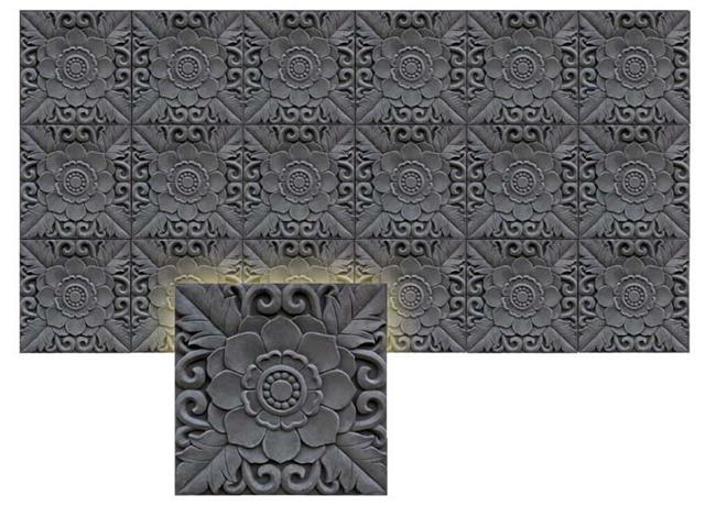 砖雕花板系列牡丹