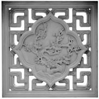 围墙砖雕窗、寺庙花窗、古建镂空窗、青砖镂空窗