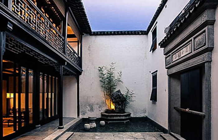 古典砖雕产品应用案例--中式庭园