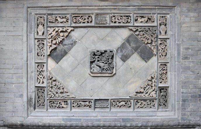 砖雕八宝图