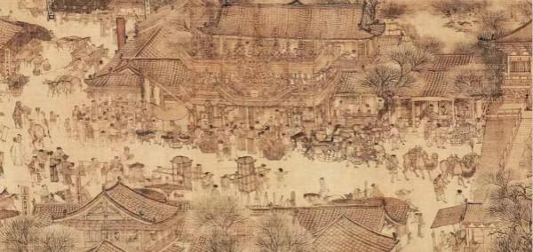 车水马龙的东京街市——《清明上河图》局部