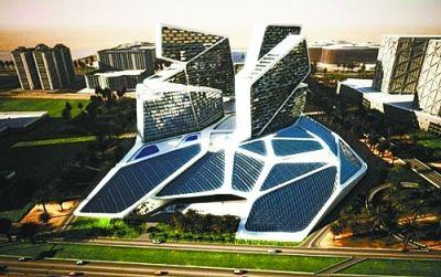 迪拜太阳能垂直村
