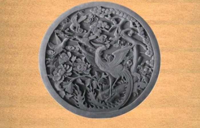 徽州砖雕纹饰之凤穿牡丹万事喜