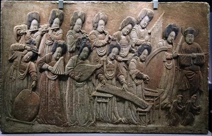 国家宝藏之《彩绘散乐浮雕》,中国民族音乐不老的传说!